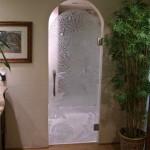 Скляні розпашні двері (2)